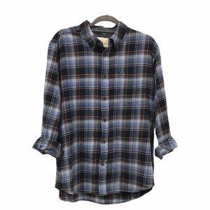Weatherproof Plaid Button Down Shirt Large